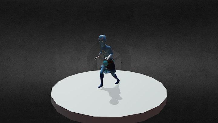 Lux Walk Animation 3D Model