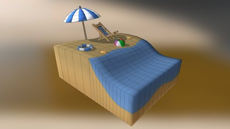 Beach - Playa 3D Model