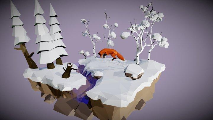 winter scene 3D Model