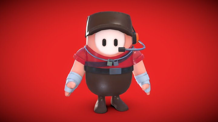 Fall Guys Scout Team Fortress Skin 3D Model