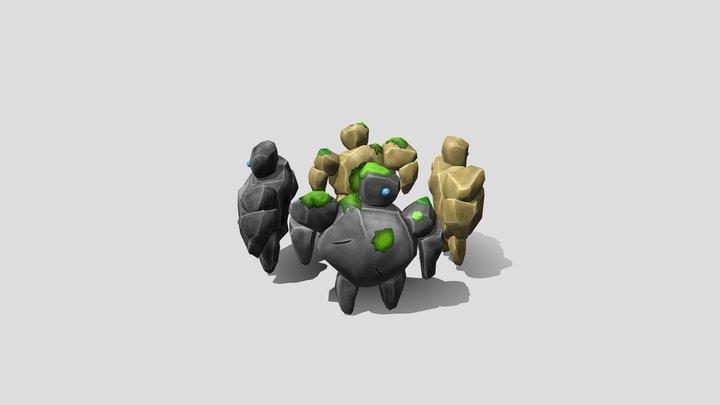 Stone Golem Minon 3D Model