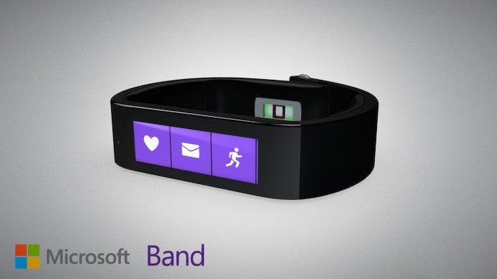 Microsoft Band 3D Model