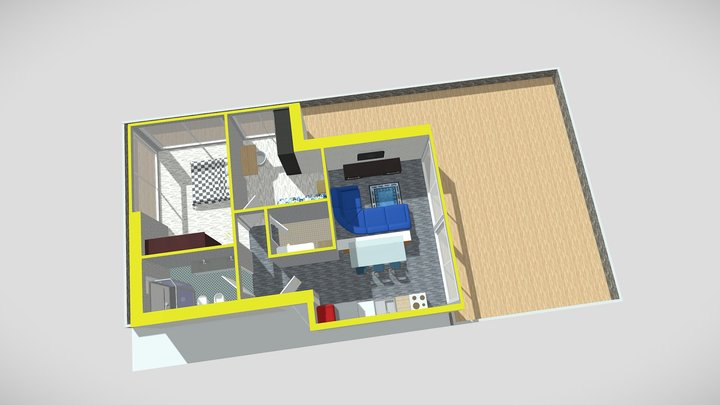 Appartamento numero 08 piano primo 3D Model