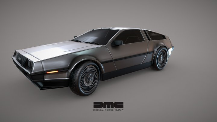 DeLorean DMC - 12 3D Model