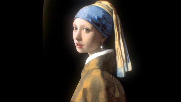Girl with a Pearl Earring 3D 3D Model
