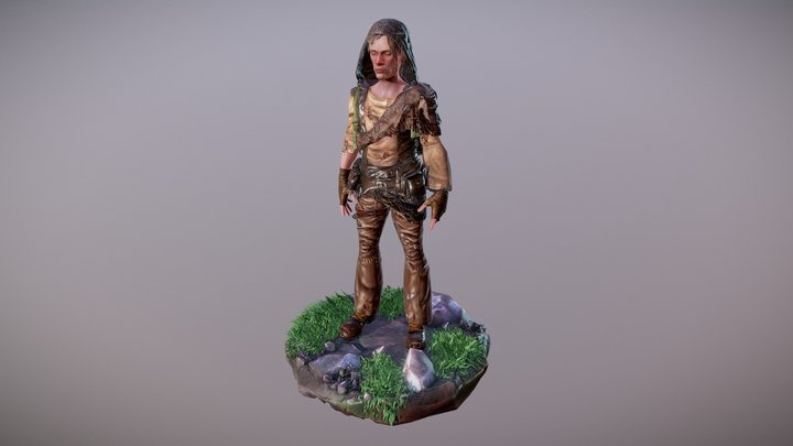 Lowpoly Character 3D Model