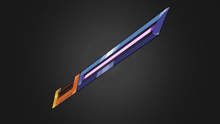 Sci-Fi Sword - Low-Polly - Cel-Shaded 3D Model