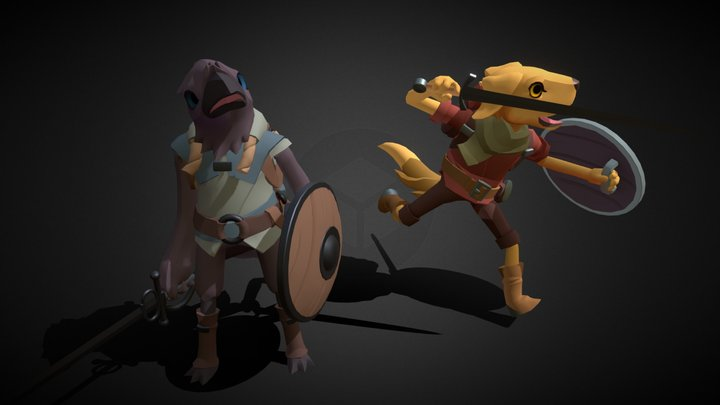 Mirador Characters - The Crow and The Dog 3D Model