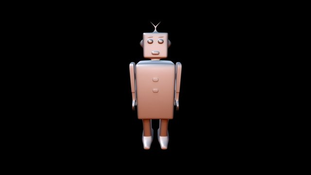 Block Robot 3D Model