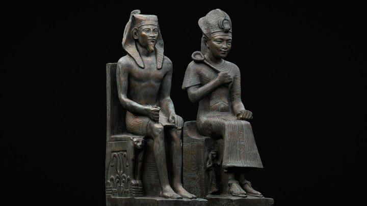 Pharaohs Khafre, God Horus & Ramesses II. 3D Model