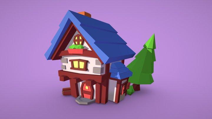 Forest Cottage 3D Model