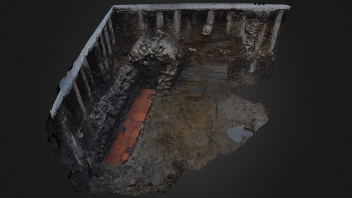 Rimska kloaka / The roman sewer, Ljubljana. 3D Model