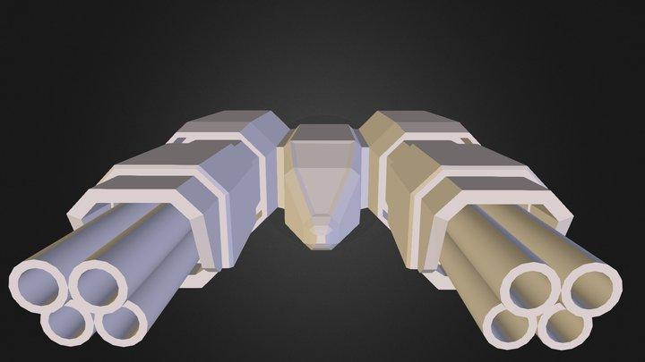 Double Flak 3D Model