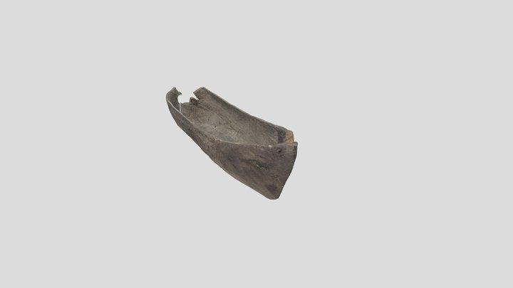 Canoa monóxila de tipo yagán 3D Model