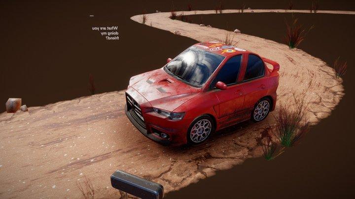 You wreck the car! 3D Model