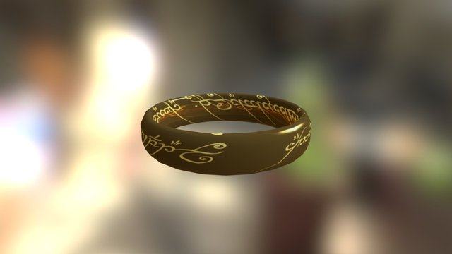 Ring from Lord of the Ring 3D Model
