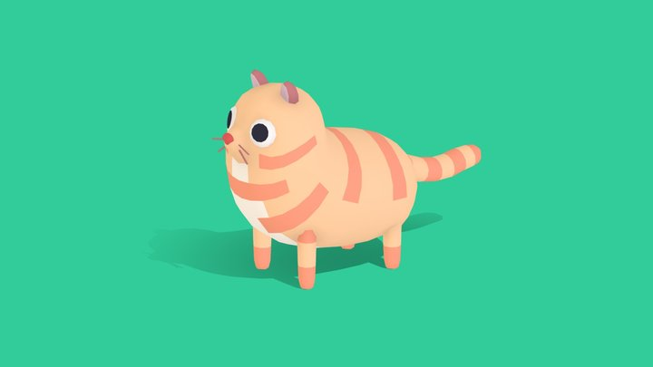 Meelo the Cat - Quirky Series 3D Model