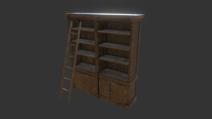 Cosy Pine Bookcase 3D Model