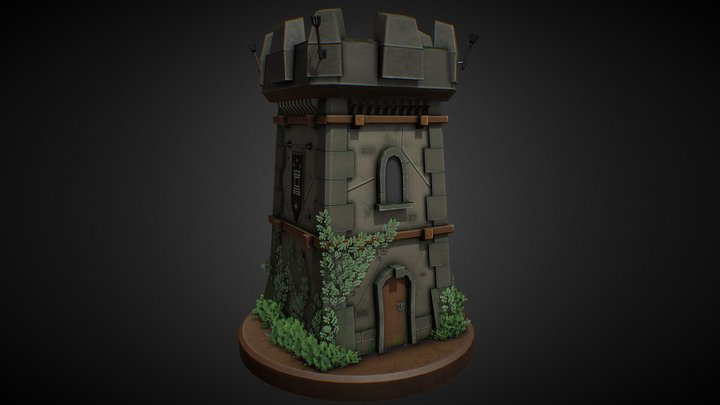 Stylized Tower 3D Model