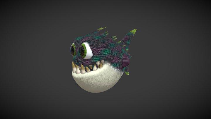 Happy Piranha 3D Model