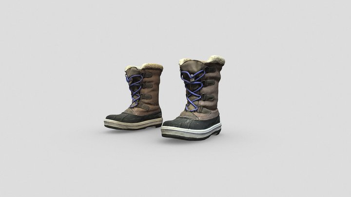 Snow Boots for Female Character 3D Model