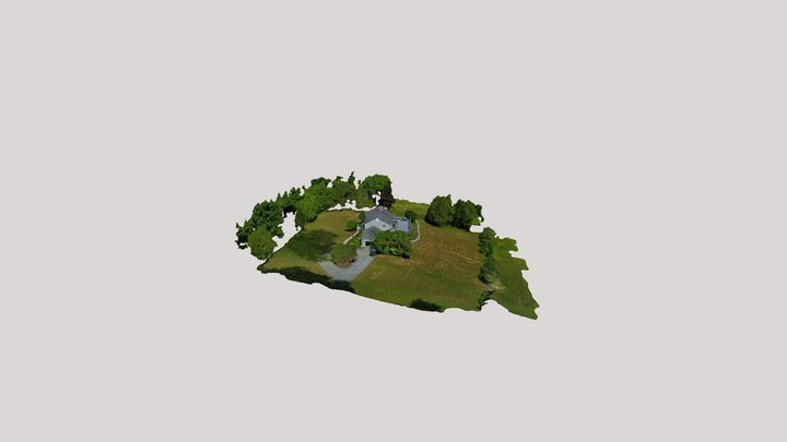 Hamilton College Outer Field with House 3D Model