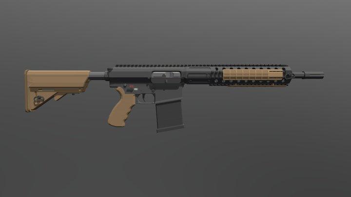 Low Poly L129A1 3D Model