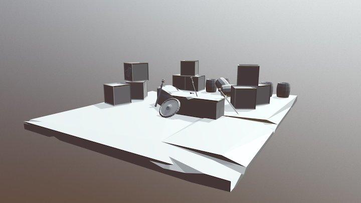Fantasy Weaponstore Diorama 3D Model