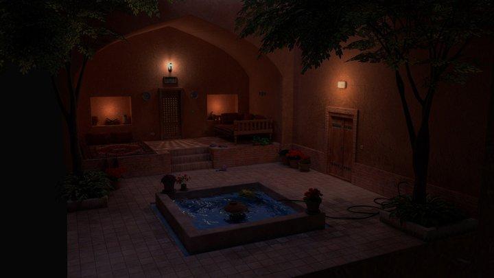 Night in a Persian Garden 3D Model