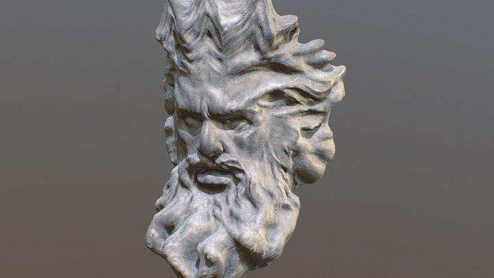Sculpture of Poseidon 3D Model