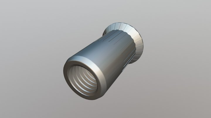 Rivet Nut - Csk Head Serrated Open End 3D Model