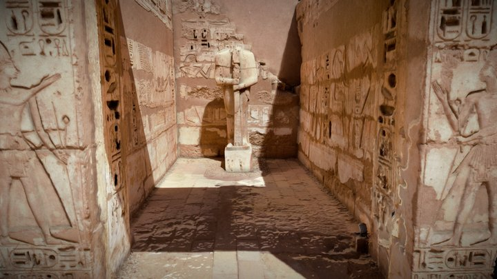 God Ptah chamber from Medinet Habu 3D Model
