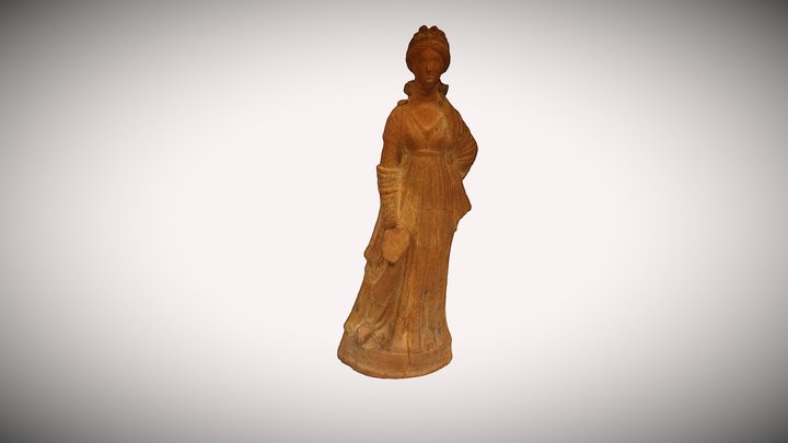 Lady with Fan Figurine 3D Model
