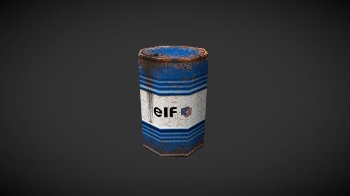 Painted rust barrel 3D Model