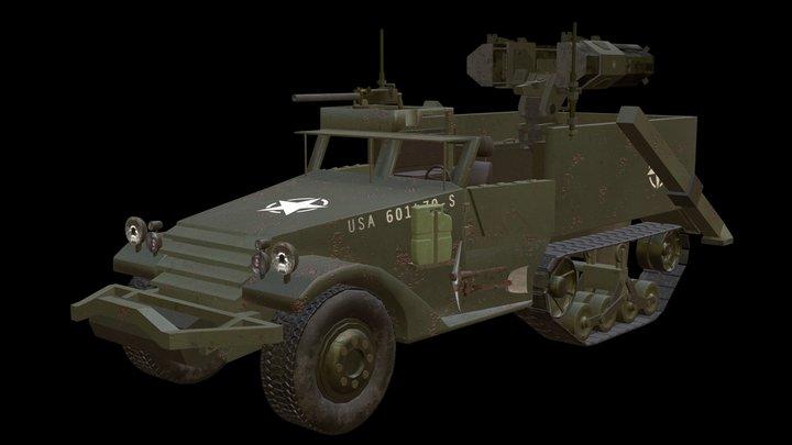 M2 Half Tank (Halo Warthog Inspired) 3D Model