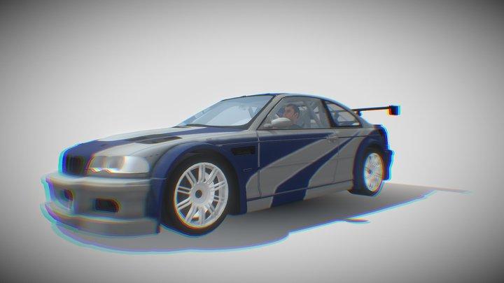 BMW M3 GTR Razor 3D Model