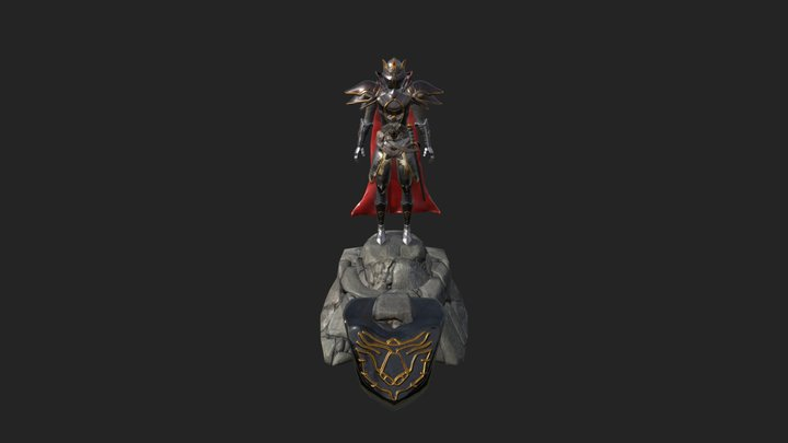 Knight Character Challenge 3D Model