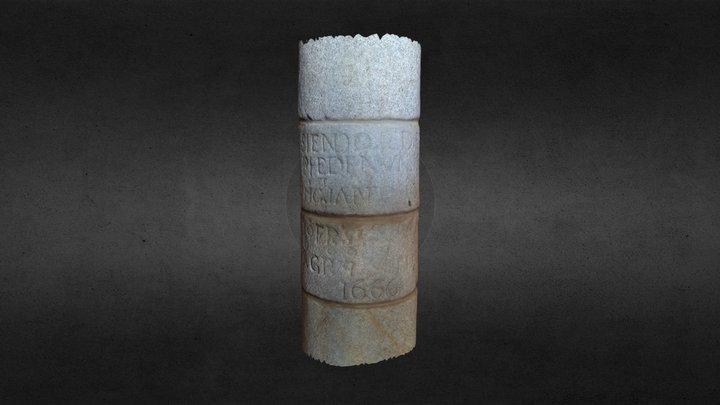Inscripción Santiago do Carril 3D Model