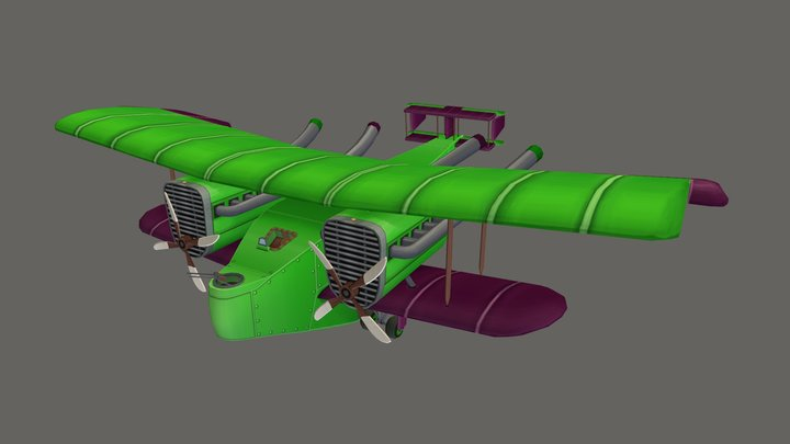 Handley Page Type O - Stylized 3D Model