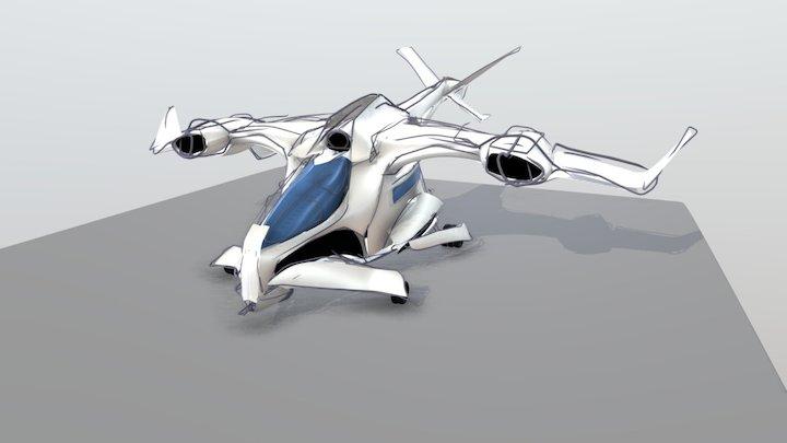 Sci-Fi Troop Transport (Gravity Sketch VR) 3D Model