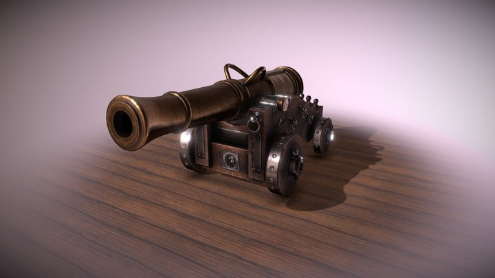 Naval Cannon - 18th Century English Style 3D Model