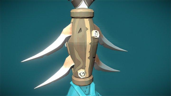 Trident of Triton - Sea of Thieves Fan Art 3D Model