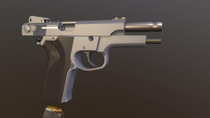 S&W 5906 3D Model