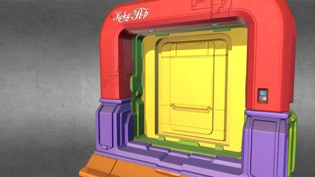 Sci-fi Dispersal Door 3D Model