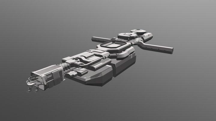 Star Citizen Carrack interior 3D Model