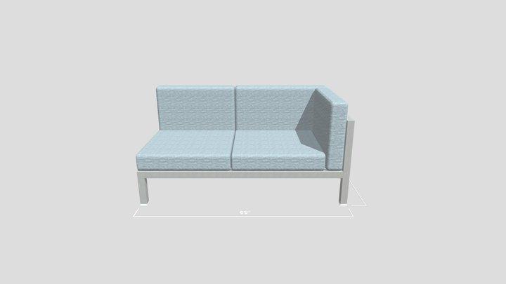 Aqua Love Seat 3D Model
