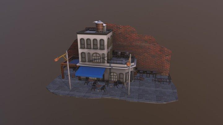 Cafe Diorama 3D Model