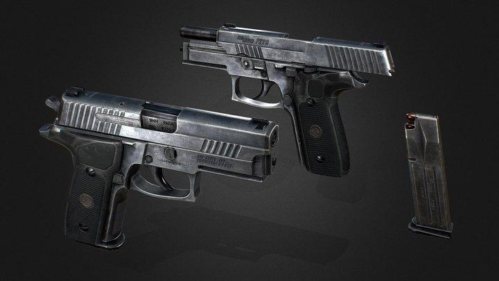 Sig Sauer P229 LEGION 3D Model