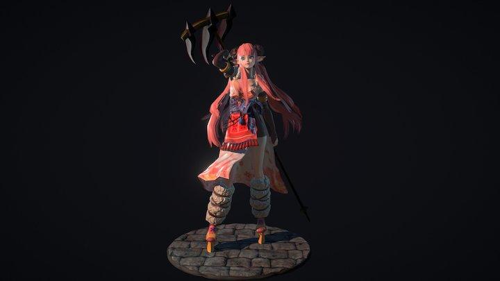Shaman girl 3D Model