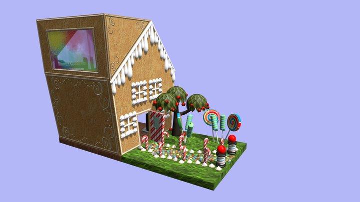Gingerbread House 3D Model